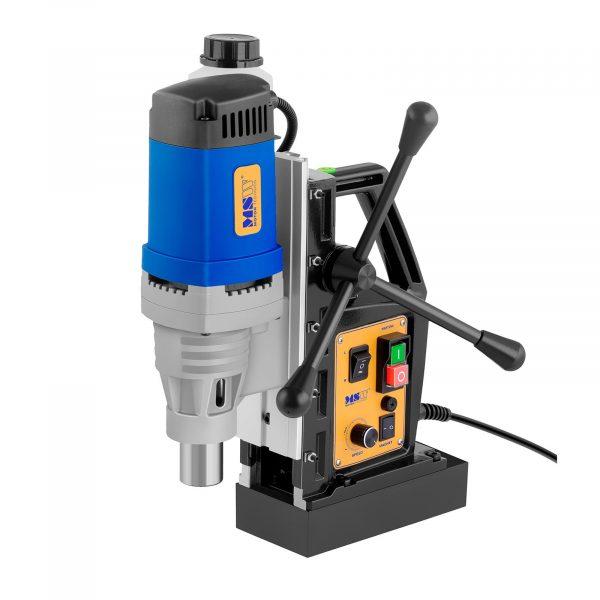 Magnetická vŕtačka 1 680 wattov - 370 ot/min ECO. Max. magnetická prídržná sila 13 500 N, vŕtanie, zahlbovanie, rezanie závitov, vykružovanie s vodováhou