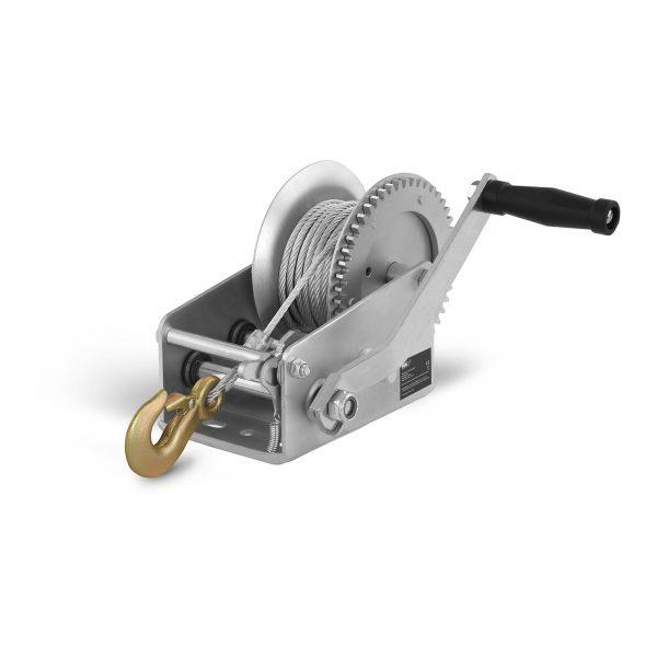 Číslo produktu: 10060180 Model: PROPULLATOR 2500MH Detaily produktu: Ťažný výkon: 1 130 kg / 2.500 lbs Prevodový pomer: 2: 1 + 4: 1 Dĺžka lana: 10 m Priemer lana: 5 mm račňová kľučka