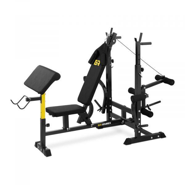 Multifunkčná posilňovacia lavica, umožňuje precvičiť viac cvikov na jednom finess stroji ako sú benchpress, bicepsy, tricepsy, chrbát, ramená alebo nohy.