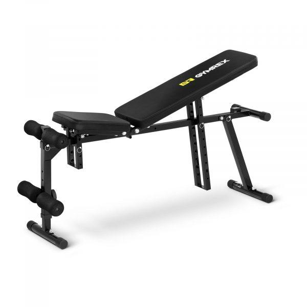 NastaviteaNastaviteľná posilňovacia lavica do 120 kg - model GR-SI50ľná posilňovacia lavica do 120 kg maximálne zaťaženie: 120 kg multifunkčná opierka chrbta, nôh a sedadlo sú nastaviteľné robustná oceľová konštrukcia pohodlná lavička vysoko kvalitné spracovanie Číslo artiklu: 10230009 Model: GR-SI50