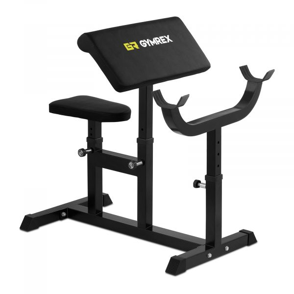 Scottová lavica do 220 kg - lavička na cvičenie bicepsov, tricepsov. Nosnosť pre cvičiaceho 120 kg a nosnosť pre činky 100 kg.
