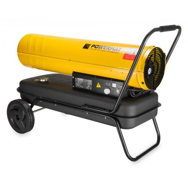 Naftový ohrievač vzduchu 65 kW | POWERMAT PM-NAG-65S, s prietokom vzduchu: 1100 m³ / h. Kapacita palivovej nádrže: 56 L. spotreba 4 L /h.
