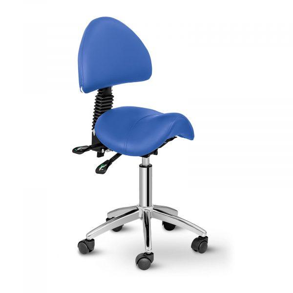 Sedlová stolička Physa BERLIN modrá. Moderná, praktická a pohodlná stolička s nastaviteľnou výškou a sklonom sa výborne hodí do každého kadertníctva, salónu