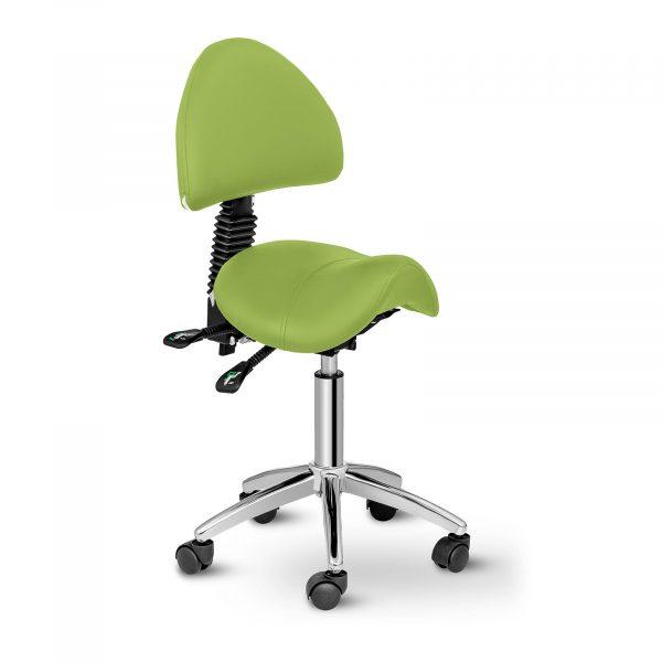 Sedlová stolička Physa BERLIN zelená s nastaviteľnou výškou do 69 cm sa výborne hodí do každého kaderníctva, kozmetického salónu alebo tetovacieho štúdia.