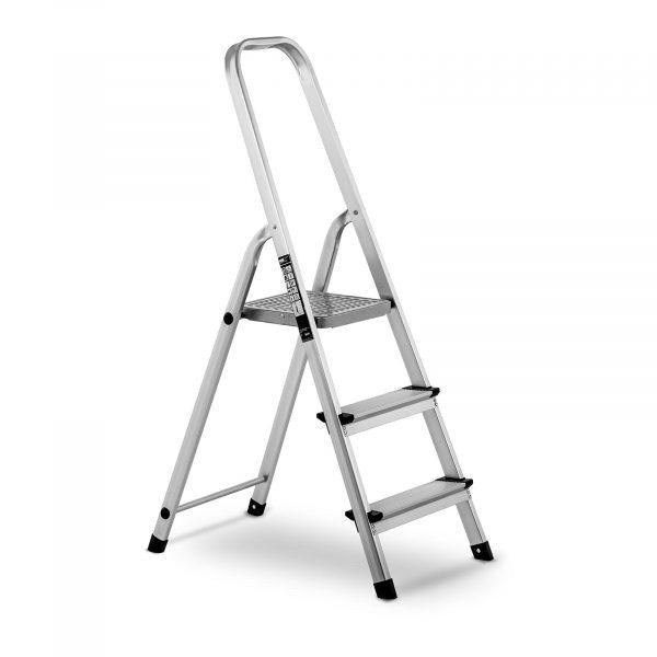 Hliníkový rebrík - jednostranný - 3 stupne - 10060953 Hliníkový rebrík - jednostranný - 3 stupne. Hliníkový rebrík MSW-AT3 značky MSW je mimoriadne ľahký a skladací rebrík vyrobený z hliníka. Nosnosť do 150 kg.