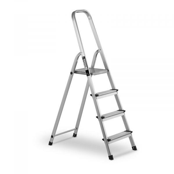 Hliníkový rebrík - jednostranný - 4 stupne - 10060954 vHliníkový rebrík - jednostranný - 4 stupne. Nosnosť rebríka 150 kg, 4 protišmykové stupienky. Bezpečnosntný zaištovací mechanizmus.