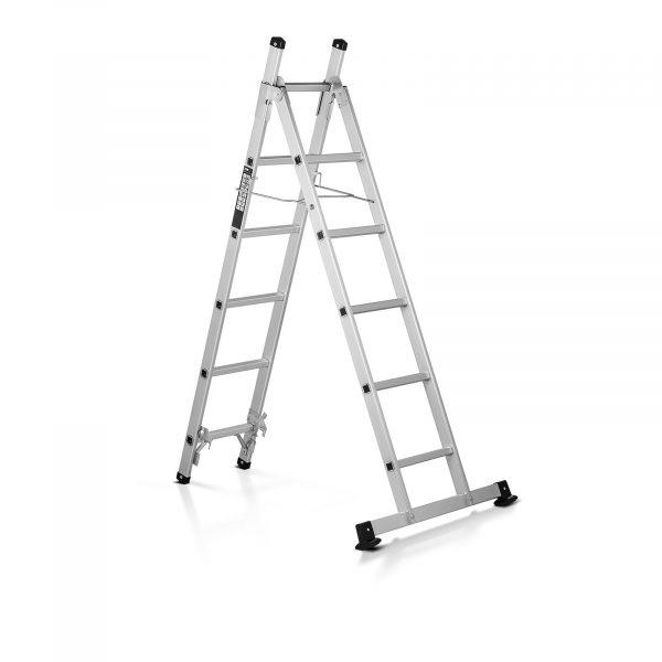 Hliníkový rebrík trojdielny - výška 2,5 m - 10060957 Hliníkový rebrík trojdielny - výška 2,5 m. Nosnosť do 150 kg, maximálna pracovná výške 2,5 m. Bezpečnosť vďaka hliníkovej konštrukcii a širokým priečkam.