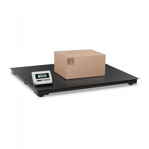Podlahová balíková váha ECO - 5 000 kg / 2 kg - LCD. Vysoká presnosť váženia v rozsahu 10 až 5000 kg. Nízka nakladacia plocha, 10 hodinová výdrž batérie.