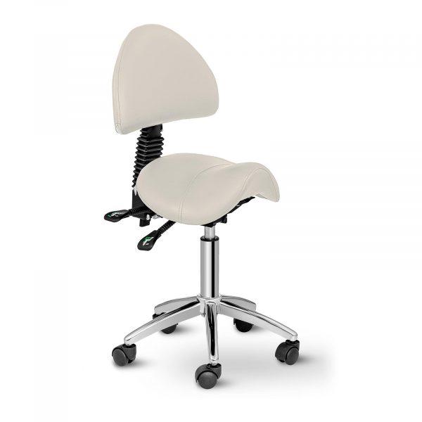 Sedlová stolička Physa BERLIN béžová. Chrbtová opierka nastaviteľná 90-120°, nosnosť do 150 kg. Jednoduché nastavenie výšky sedenia do 69 cm
