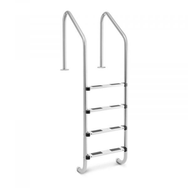 Bazénový rebrík - 4 stupne | 1820 mm, z nehrdzavejúcej ocele s protišmykovým povrchom so 4 stupňami je doplnkom na každom štandardnom bazéne.