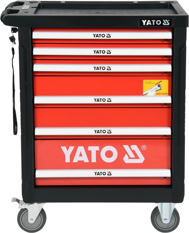 fd2f4bc411970 Dielenský vozík s náradím 6 zásuviek červená | 185 ks náradia, 6 zásuviek s  poistkou