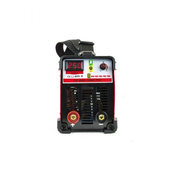 Invertorová zváračka 250A IGBT | PM-MMA-250KD PRO, elektródová zváračka s rozsahom zvárania do 250A, elektróda: 1,6 - 4 mm, hmotnosť len 5,3 kg.