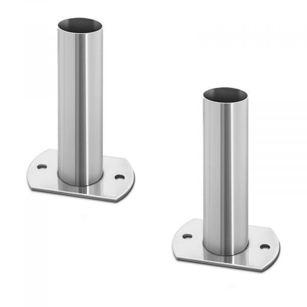 Kotvenie pre bazénové rebríky - 2 ks, sú vhodné pre montáž štandardných rebríkov s priemerom madla 42 mm. Vyrobené z nerezovej ocele.