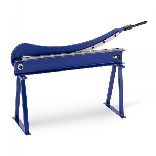 Tabuľové pákové nožnice na plech | dĺžka rezu 1 000 mm s podstavou, umožňujú strihaie plechov s hrúbkou 1,5 mm a reznou dĺžkou 1000 mm.