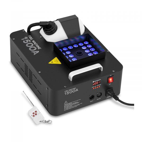 Výrobník hmly - LED 24 x 3 W - 1 500 W - 509 m3/min   3 farby LED, jednocuchá obsluha cez konzol, diaľkové ovládanie, kontrola množstva kvapaliny.