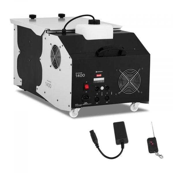 Výrobník hmly - 1400 W   566 m3/min - DMX konzola, bezdrôtové diaľkové ovládanie,ochrana proti prehriatiu, ochrana čerpadla automatickým vypnutím.