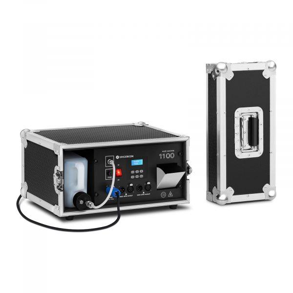 Výrobník hmly - 1 100 W   99 m³ / min - DMX - LCD, umožňuje výrobu hmly v množstve 99 m3 / min, ktorý sa hodí na na svadbách, oslavách, koncertoch.