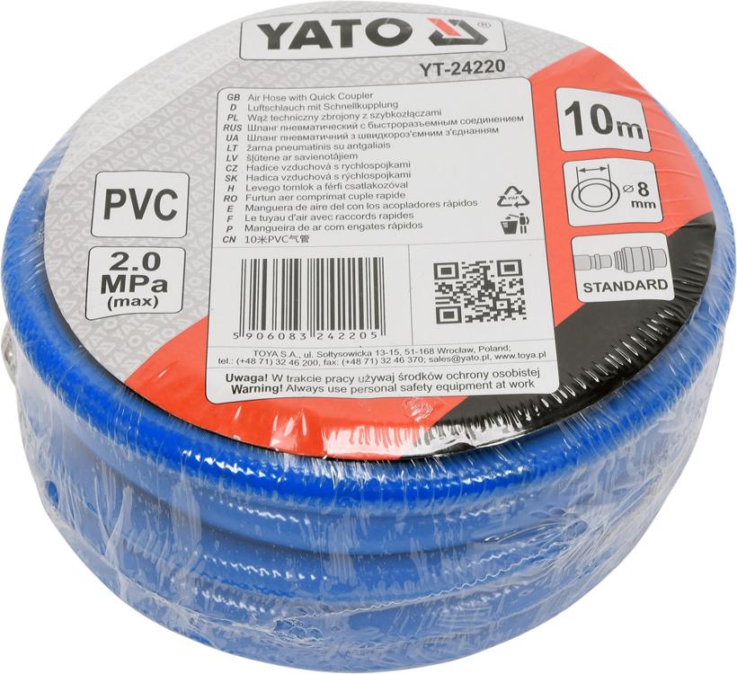 Vzduchová hadica YATO 8 mm, 10 m - 1