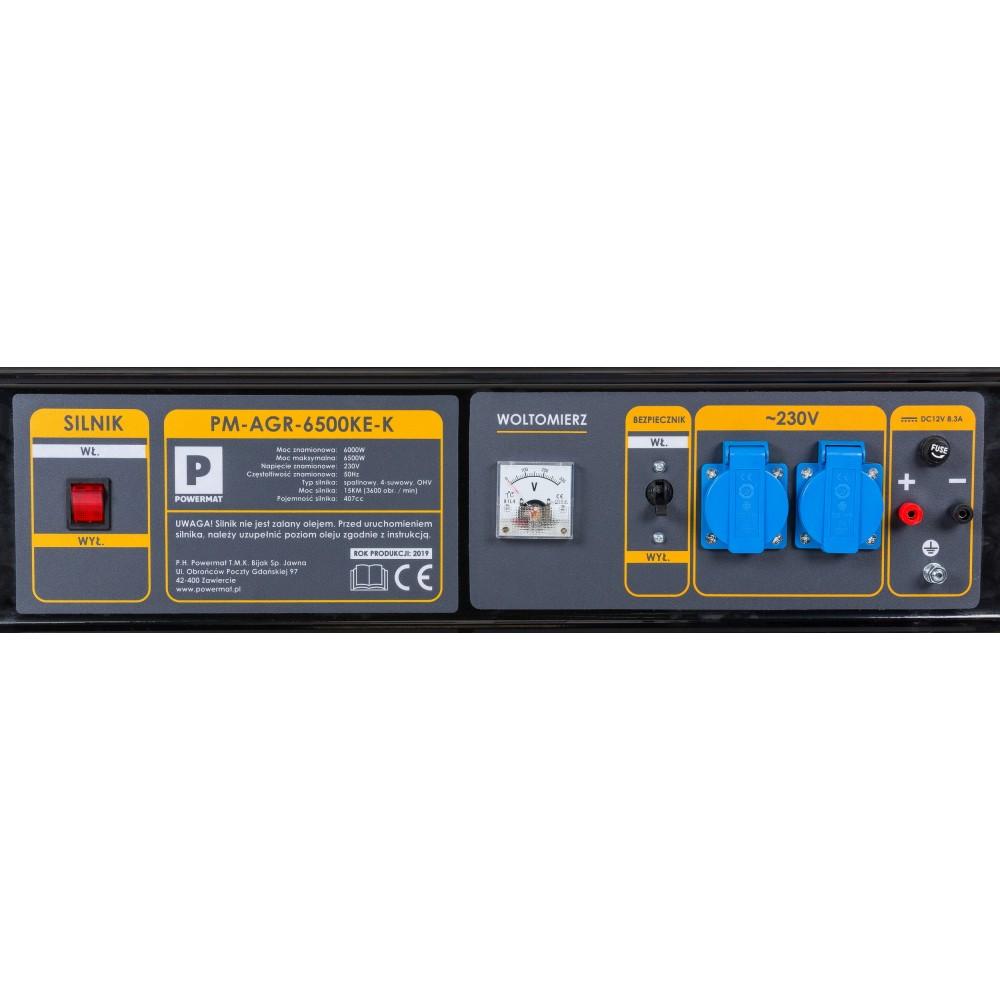 Elektrocentrála 230V / 12V | PM-AGR-6500KE-K - 2