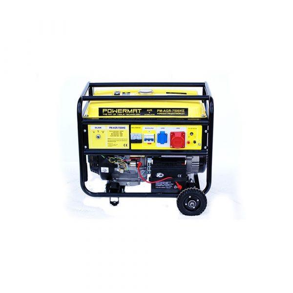 Elektrocentrála 230V / 12V AVR | PM-AGR-7500KE, pre napätie 230 alebo 400 V, zabudovaný voltmeterbezpečnostný spínačpalivová nádrž: 25 L.