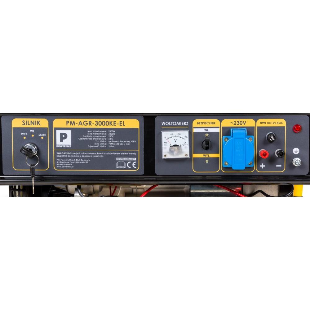 Elektrocentrála + elektrický štartér 230V / 12V | PM-AGR-3000KE-EL - 1