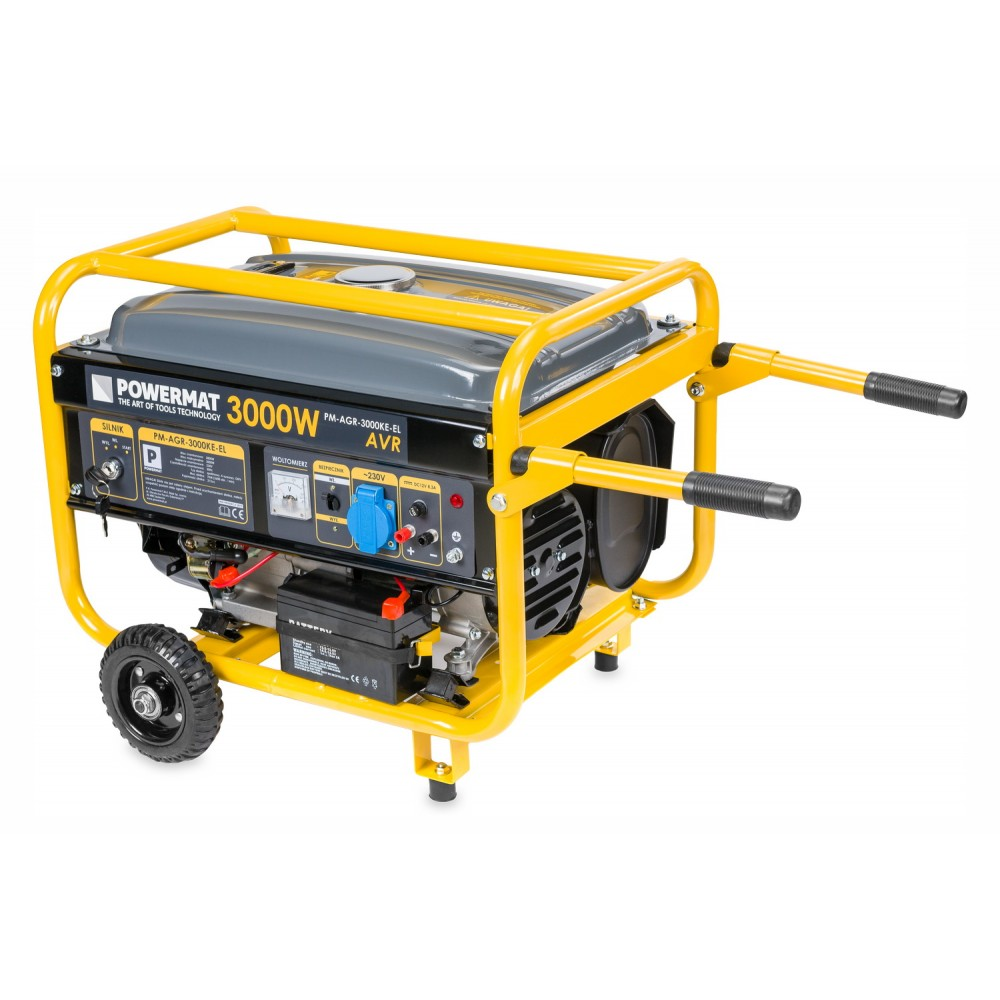 Elektrocentrála + elektrický štartér 230V / 12V | PM-AGR-3000KE-EL - 2