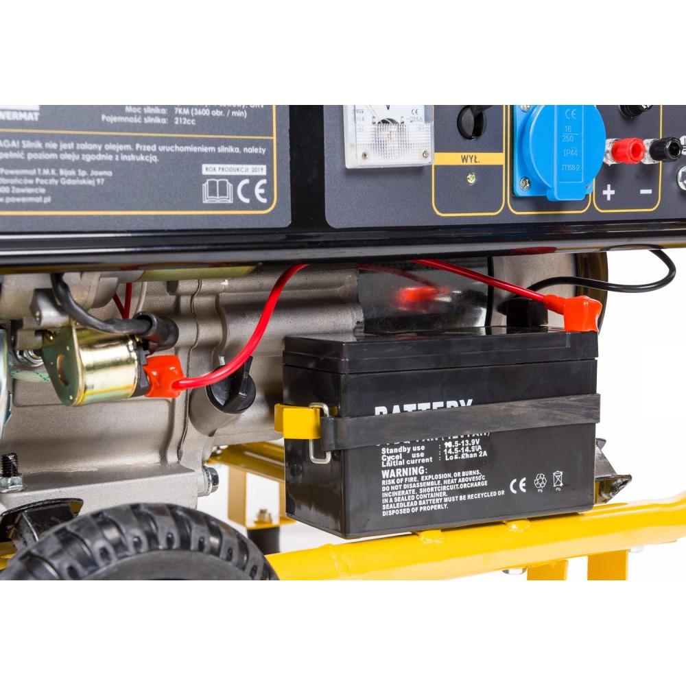 Elektrocentrála + elektrický štartér 230V / 12V | PM-AGR-3000KE-EL - 4