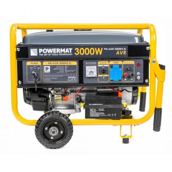 Elektrocentrála + elektrický štartér 230V / 12V | PM-AGR-3000KE-EL