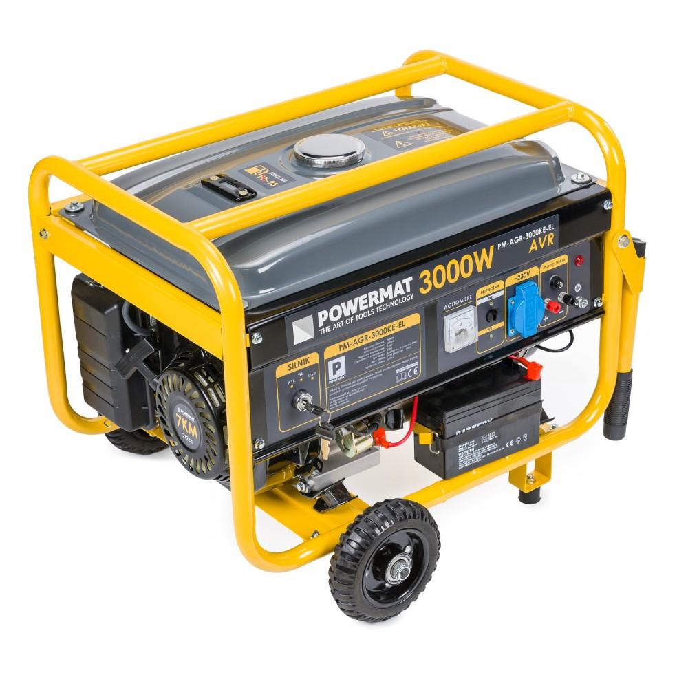 Elektrocentrála + elektrický štartér 230V / 12V | PM-AGR-3000KE-EL - 8