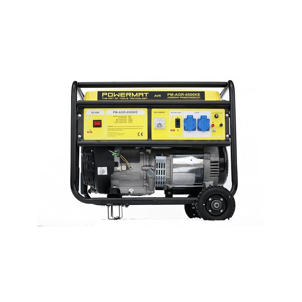 Elektrocentrála + elektrický štartér 230V / 12V   PM-AGR-6500KE - 3