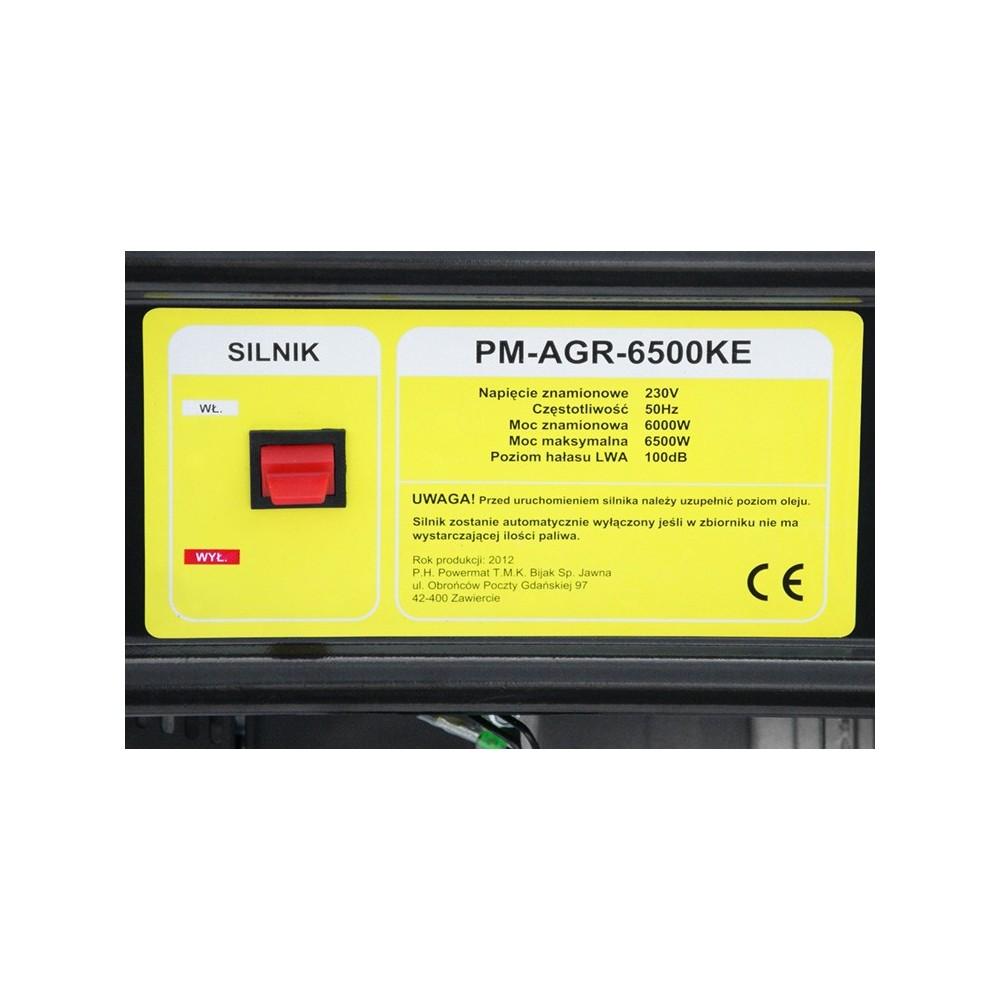Elektrocentrála + elektrický štartér 230V / 12V   PM-AGR-6500KE - 8