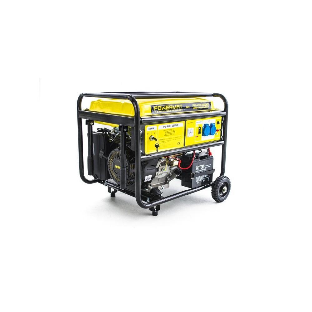Elektrocentrála + elektrický štartér 230V / 12V   PM-AGR-6500KE - 9