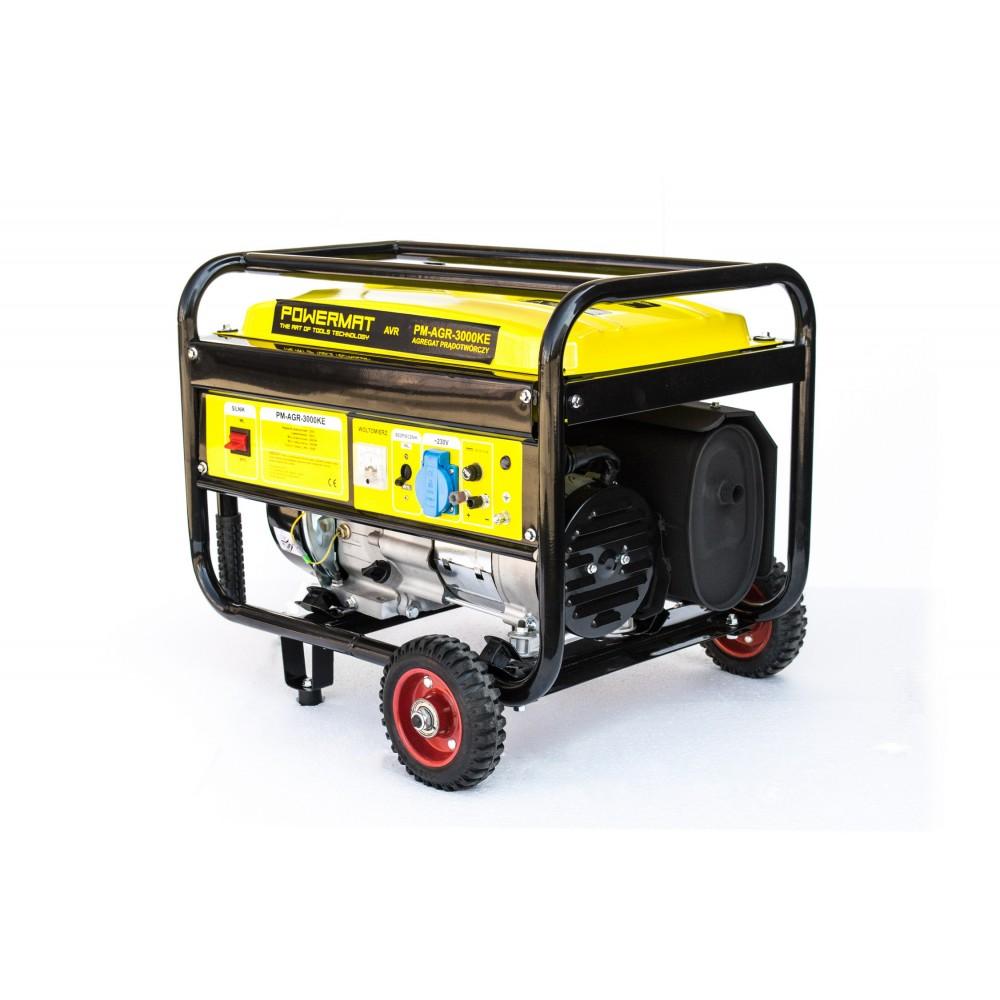 Elektrocentrála s kolesami 230V / 12V | PM-AGR-3000KE - 3