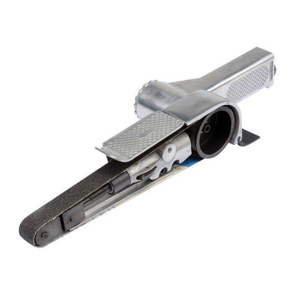 Pneumatická pásová brúska YATO | 20 x 520 mm |YT-09742. Nastaviteľný uhol: 0-90°, Pracovná rýchlosť : 20 000 ot. / min., hmotnosť: 1,5 kg.