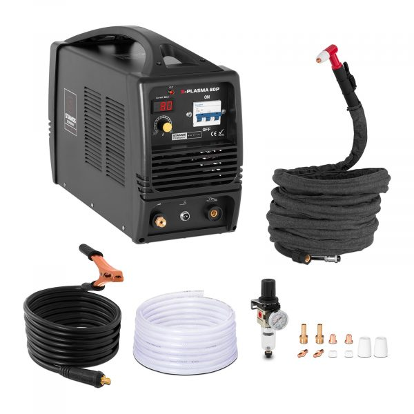 Plazmová rezačka | 80 A - 400 V, plynulá regulácia prúdu, rezný prúd: 20 - 80 A, hrúbka rezu: 0 - 27 mm, technológia MOSFeT.