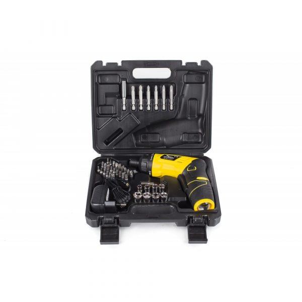 Akumulátorový skrutkovač | PM-WA-3.6V-LI má maximálne otáčky 210 ot / min takže môže pracovať ako štandardný skrutkovač s malými rozmermi.