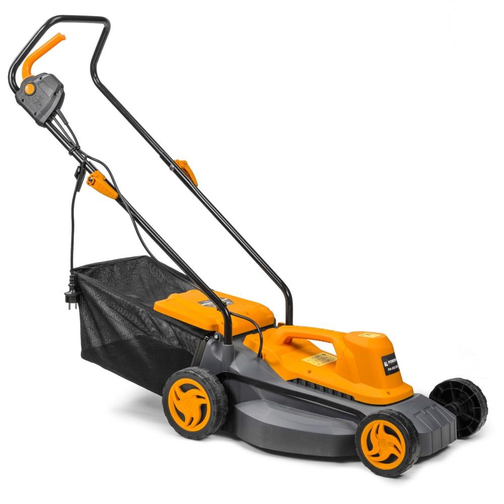 Elektrická kosačka - 2 500 W   PM-KSE-2500S s maximálnym výkonom 2500 W nebude kosenie hustej trávy problémom. Šírka rezu 380 mm.
