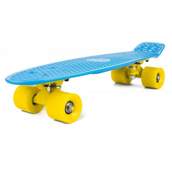 Penny Board, modro - žltý | ST-PS004A s rozmermi kolies 60/45 mm umožňujú rýchlu a jednoduchú zmenu smeru a hladký priebeh trikov.