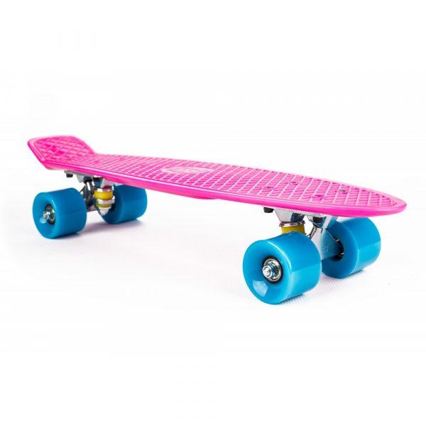 Penny Board - ružovo modrý | ST-PS004A, max. zaťaženie do 100 kg je ideálny pre rekreačné jazdenie, ako aj pre jazdu v preplnených mestách.