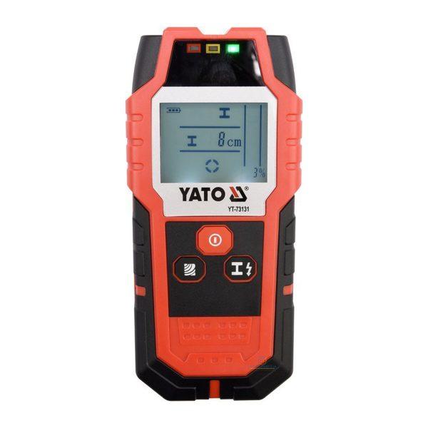 Yato Digitální detektor kov, káble a drevo | YT-73131 profesionálny detektor vodičov a profilov umožňuje detekciu v stenách alebo v suchých budovách.