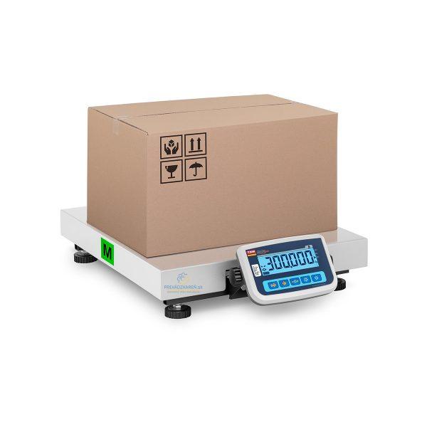 Balíková váha - 300 kg / 100 g | plocha 60 x 50 cm, presnosť merania - do 100 g pri 300 kgŠiroký rozsah váženia - dva režimy: W1 až 150 kg a W2 až 300 kg.