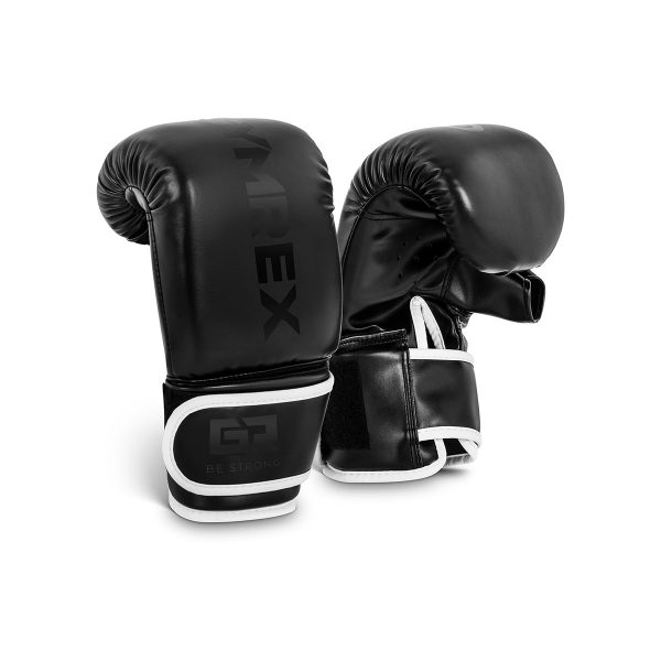 Boxerské rukavice | 10 oz - čierne, model: GR-BG 10PB, pre začinajúcich aj pokročilých boxérov, kvaltiné spracovanie, dvojité šitie.