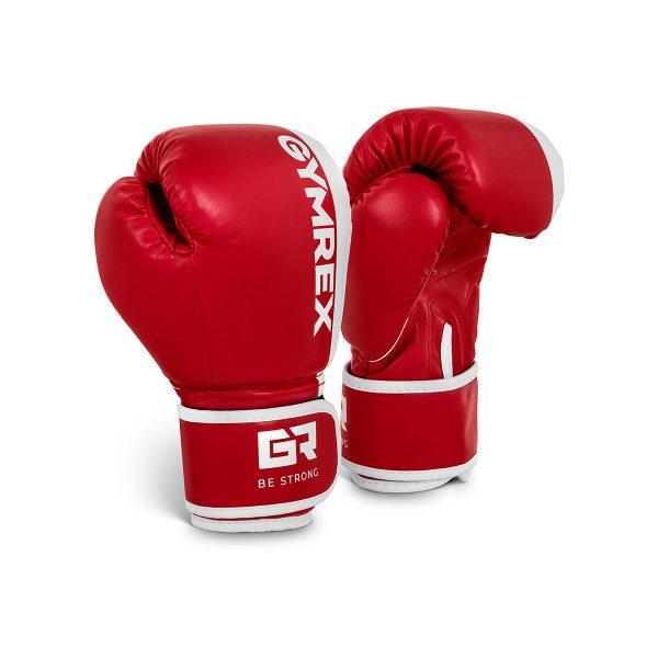 Boxerské rukavice pre deti | 6 oz - červené, model : GR-BG 6B, pevná, odolná syntetická koža, silné, dvojité prešívanie, hustá pena, zapínanie na suchý zips