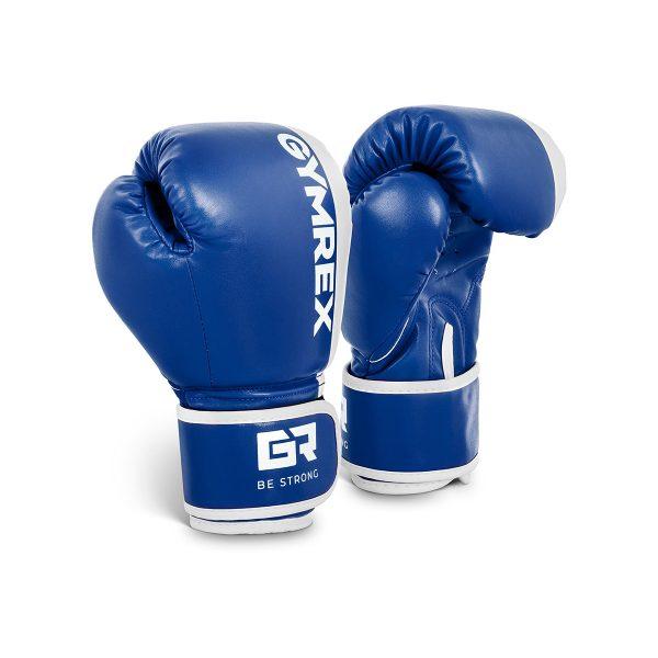 Boxerské rukavice pre deti | 6 oz - modré, model : GR-BG 6P, vynikajúca stabilizácia zápästia, široký popruh na suchý zips, dvojité prešívanie.