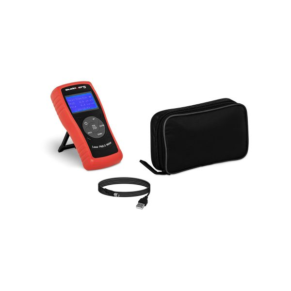 Merač jemných prachových častíc PM 2,5 - PM 10 | od 0 do 999,9 μg/m³, 1600 mAh batéria, LCD displej s podsvietením, jednoduché ovládanie.