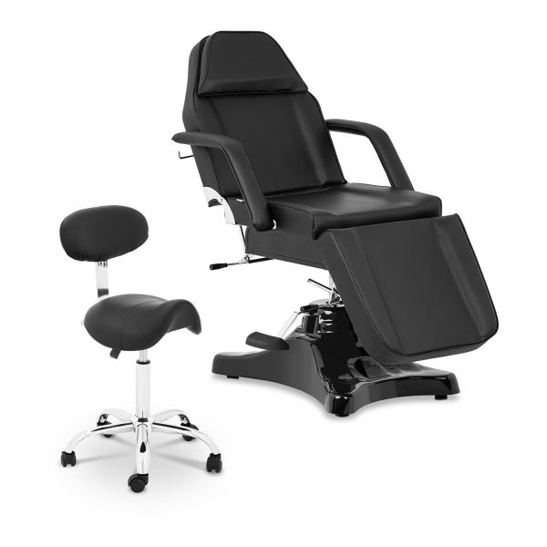 Sada pedikérske kreslo čierne Bergamo + sedlová stolička čierna Hamburg 18000394