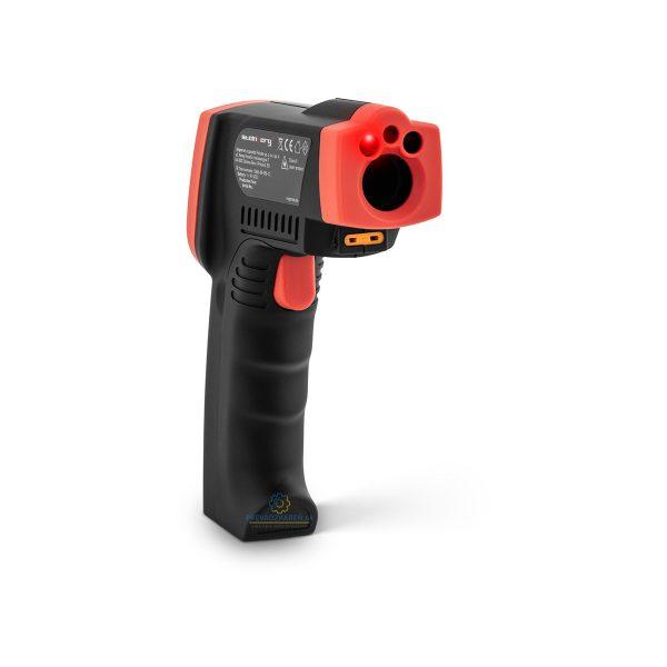 Laserový infračervený Pyrometer | od -50°C do 550°C, presnosť merania ± 3 ° C alebo ± 3%, LCD displej, konverzia z ° C na ° F. Využitie pri obrábaní kovov.