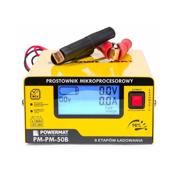 Nabíjačka autobatérii – mikroprocesorová 12 24V PM-PM-50B - 1