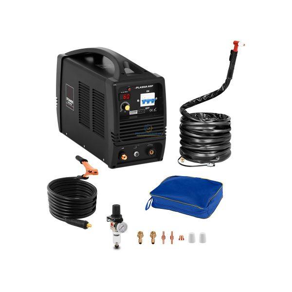 Plazmová rezačka – 60 A - 400 V | S-Plasma 60P, technológia MOSFET, rezanie ocele, liatiny, medi, mosadze a ďalších vodivých kovov do hrúbky 22 mm.