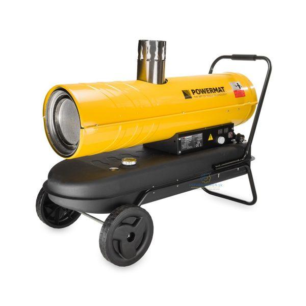 Naftový ohrievač s komínom | PM-NAG-40SK 40kW + LCD displej Technické parametre: Model: PM-NAG-40SK Napájanie: 230 V / ~ 50 Hz Vykurovací výkon: 40 kW Prietok vzduchu: 760 m³ / h Objem palivovej nádrže: 56 l